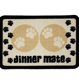 Pet Rebellion Dinner Mate Large Absorbent Food Mat, Cream 40x60cm