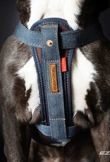 EzyDog Chest Plate Dog Harness with Seat Belt Loop, Denim