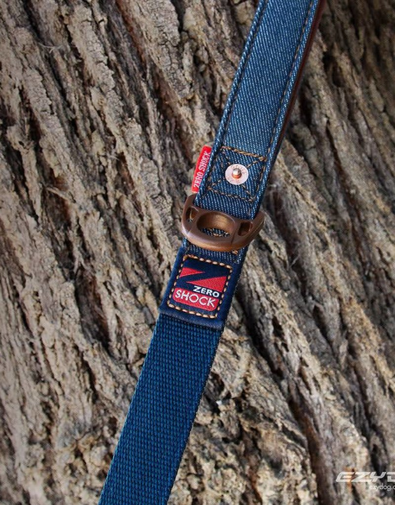 EzyDog Zero Shock Dog Lead 48, 120cm Denim