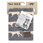 Rosewood Tall Tails Charcoal Pet Fleece Blanket Medium
