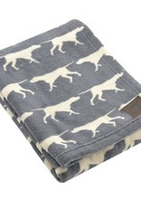 Rosewood Tall Tails Charcoal Pet Fleece Blanket Large
