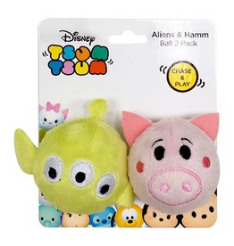 Disney Tsum Tsum Aliens & Hamm Ball Cat Toy, 2 pack
