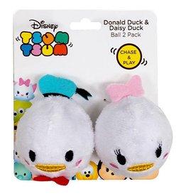 Disney Tsum Tsum Donald Duck & Daisy Duck Ball Cat Toy, 2 pack