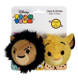 Disney Tsum Tsum Scar & Simba Ball Cat Toy, 2 pack