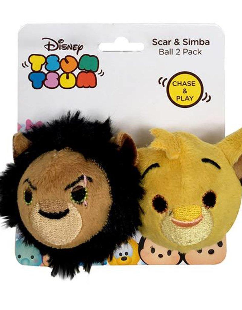 Disney Tsum Tsum Scar & Simba Ball 2 pack Cat Toy