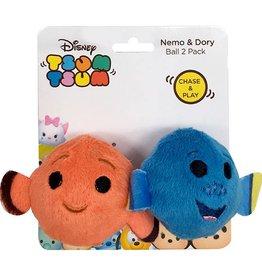 Disney Tsum Tsum Nemo & Dory Ball Cat Toy, 2 pack