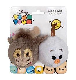 Disney Tsum Tsum Sven & Olaf Ball Cat Toy, 2 pack