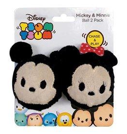 Disney Tsum Tsum Mickey & Minnie Ball Cat Toy, 2 pack