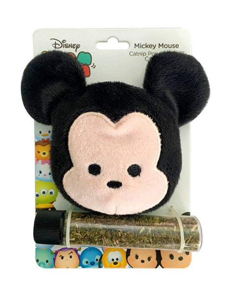 Disney Tsum Tsum Mickey Catnip Pouch & Refill Cat Toy