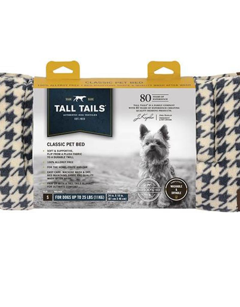 Rosewood Tall Tails Fleece Top Houndstooth Pet Bed