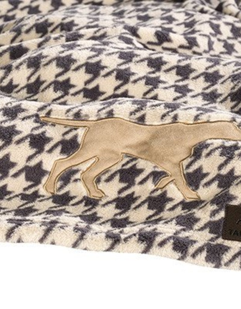 Rosewood Tall Tails Houndstooth Pet Fleece Blanket
