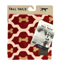 Rosewood Tall Tails Red Bone Pet Fleece Blanket