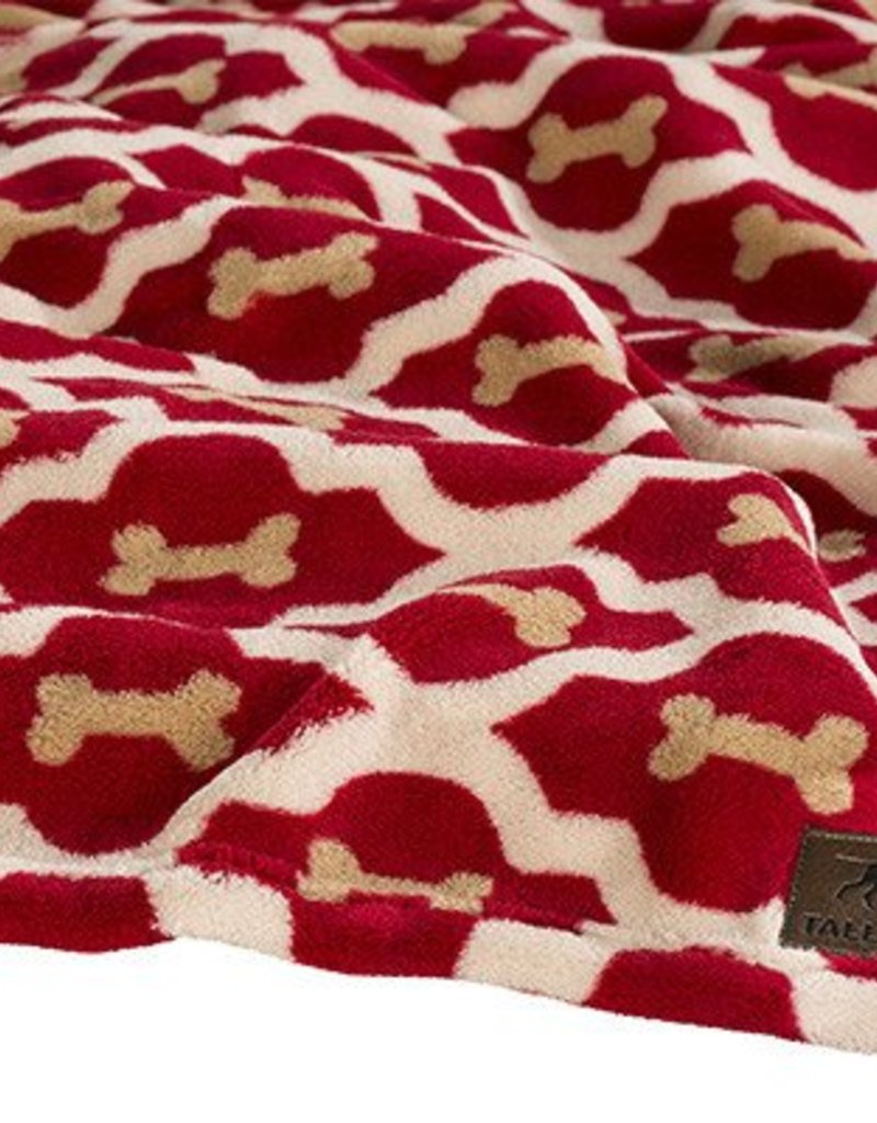 Rosewood Tall Tails Red Bone Pet Fleece Blanket