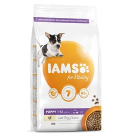Iams Puppy Small and Medium Breed Dry Food with Fresh Chicken