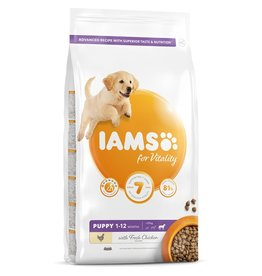 Iams Puppy Large Breed Dry Food with Fresh Chicken