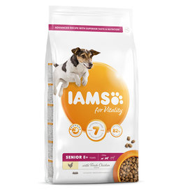 Iams Senior 8+ Small and Medium Breed Dog Dry Food with Fresh Chicken