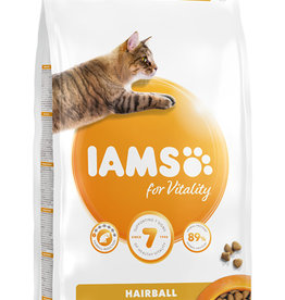 Iams Adult Cat Dry Food Hairball Reduction with Fresh Chicken, 2kg