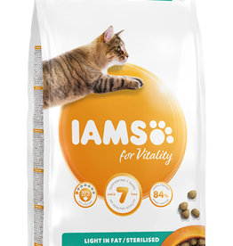 Iams for Vitality Light in Fat/Sterilised Cat Food with Fresh Chicken 2kg