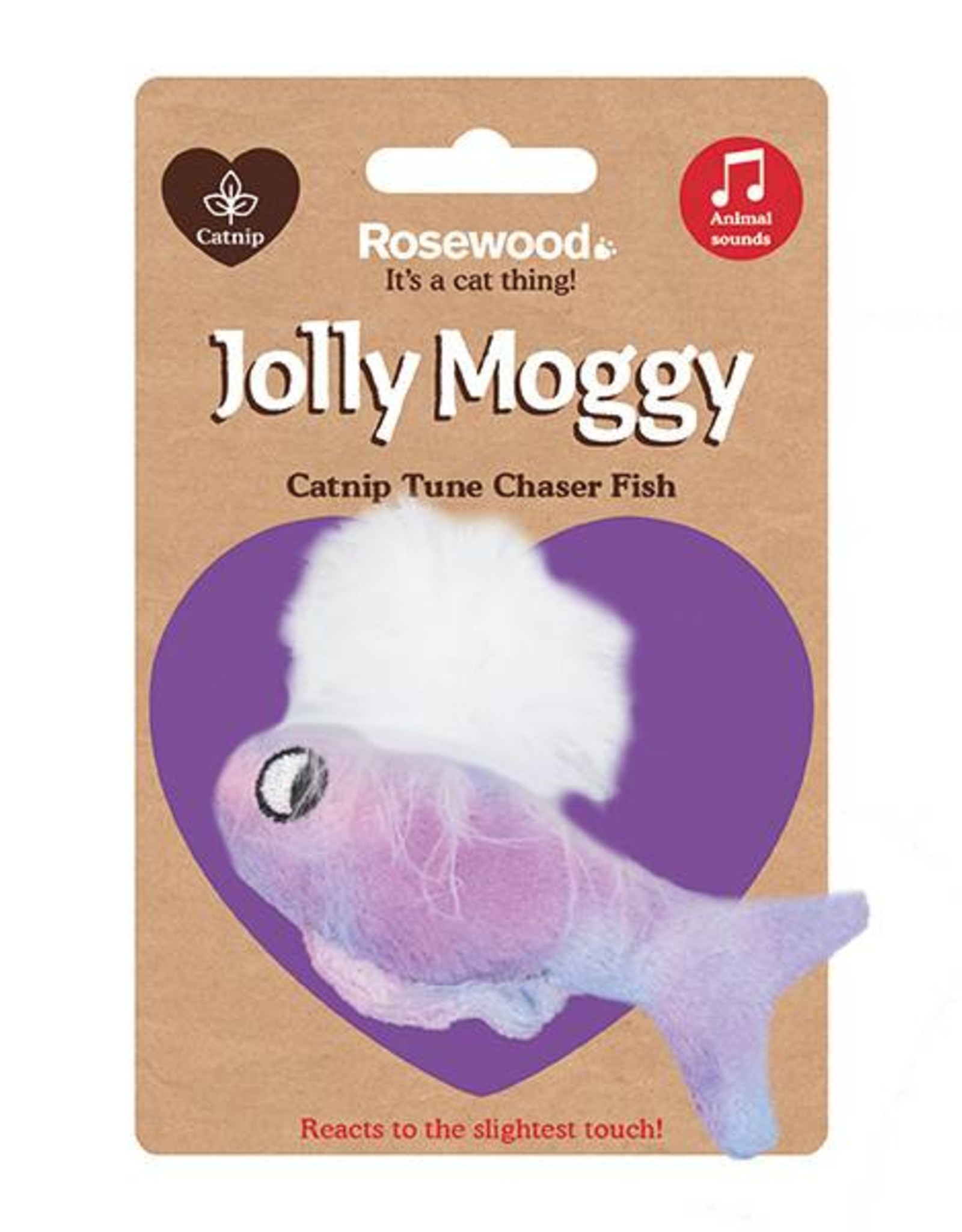 Rosewood Catnip Tune Chaser Fish Cat Toy