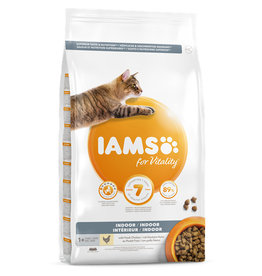 Iams Indoor Cat Dry Food with Fresh Chicken, 2kg