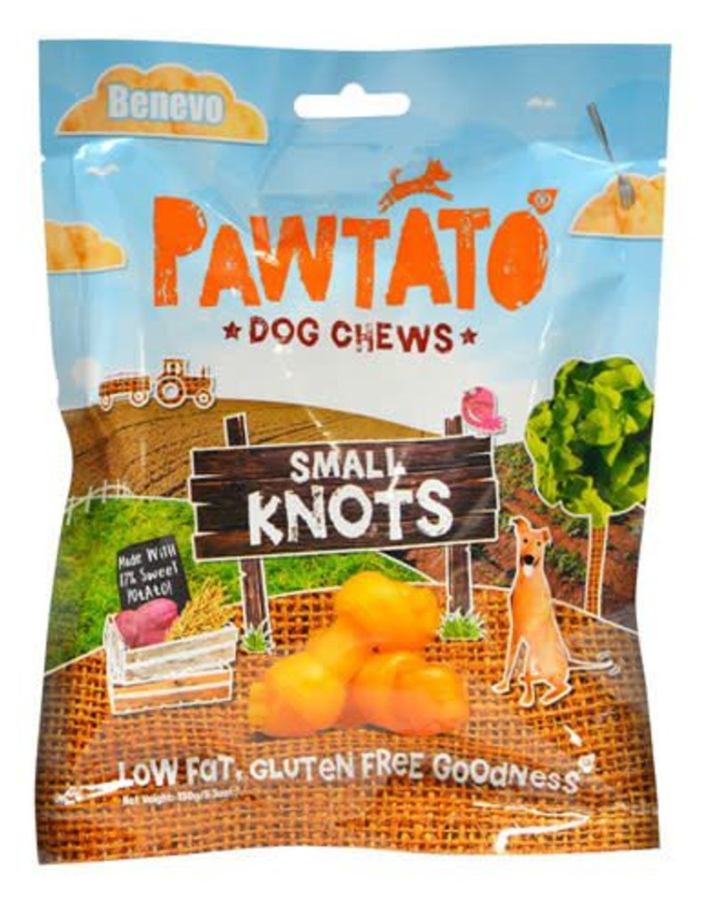 Benevo Pawtato Small Knots Vegan Sweet Potato Dog Chews 150g