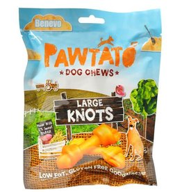 Benevo Pawtato Large Knots Vegan Sweet Potato Dog Chews 180g