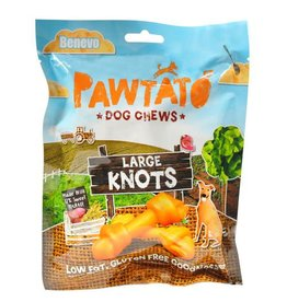 Benevo Pawtato Large Knots Vegan Sweet Potato Dog Chews, 180g