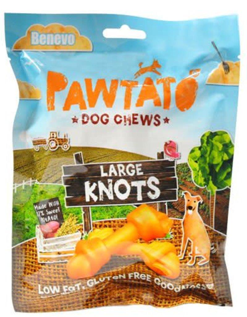 Benevo Pawtato Large Knots Vegan Sweet Potato Dog Chews 180g