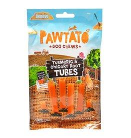 Benevo Pawtato Sweet Potato, Turmeric & Chicory Root Tubes Vegan Dog Chews, 90g