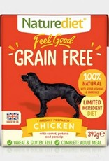 Naturediet Feel Good Grain Free Wet Dog Food, Chicken 390g