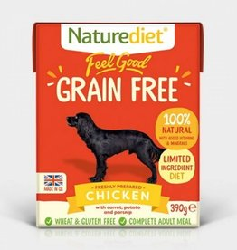 Naturediet Feel Good Grain Free Adult Dog Wet Food, Chicken, 390g
