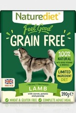Naturediet Feel Good Grain Free Adult Dog Wet Food, Lamb, 390g