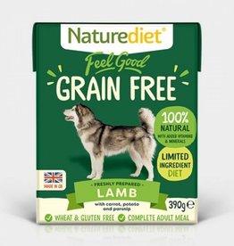 Naturediet Feel Good Grain Free Adult Dog Wet Food, Lamb, 390g