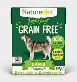Naturediet Feel Good Grain Free Wet Dog Food, Lamb 390g