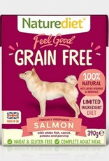 Naturediet Feel Good Grain Free Adult Dog Wet Food, Salmon, 390g