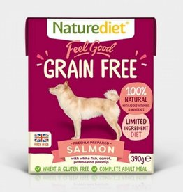 Naturediet Feel Good Grain Free Wet Dog Food, Salmon 390g