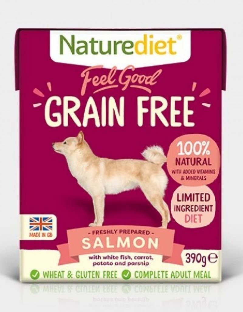 Naturediet Feel Good Grain Free Wet Dog Food, Salmon 390g