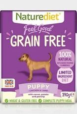 Naturediet Feel Good Grain Free Adult Dog Wet Food, Chicken & Lamb, 390g