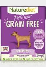 Naturediet Feel Good Grain Free Wet Puppy Food, Chicken & Lamb 390g