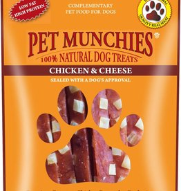 Pet Munchies 100% Natural Dog Treats Chicken & Cheese 100g