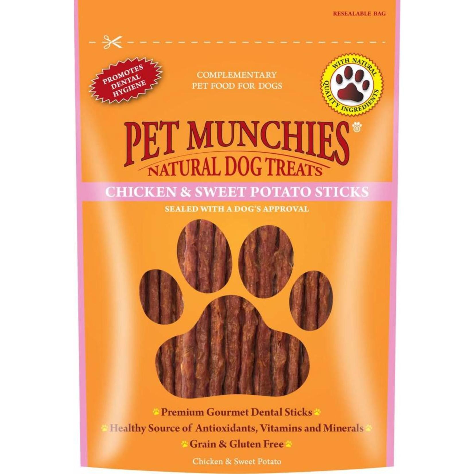 Pet Munchies Chicken & Sweet Potato Sticks Natural Dog Treats, 90g