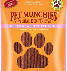 Pet Munchies Chicken & Sweet Potato Sticks Natural Dog Treats, 90g