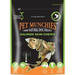 Pet Munchies Salmon Skin Chews 100% Natural Dog Treats, Large, 125g