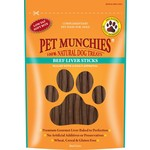 Pet Munchies Beef Liver Sticks 100% Natural Dog Treats, 90g