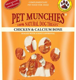 Pet Munchies 100% Natural Dog Treats, Chicken & Calcium Bone 100g