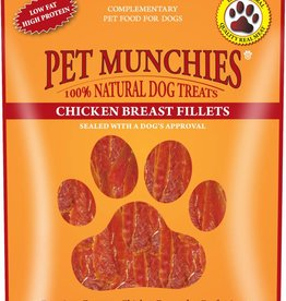 Pet Munchies Chicken Breast Fillets 100% Natural Dog Treats, 100g