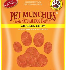 Pet Munchies 100% Natural Dog Treats, Chicken Chips 100g