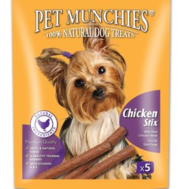 Pet Munchies 100% Natural Dog Treats, Chicken Stix 50g