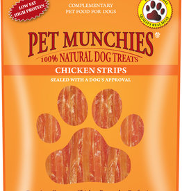 Pet Munchies 100% Natural Dog Treats, Chicken Strips 90g