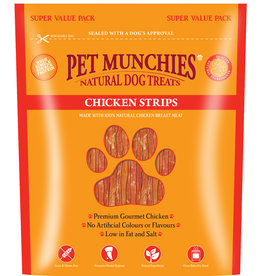 Pet Munchies 100% Natural Dog Treats, Chicken Strips 320g